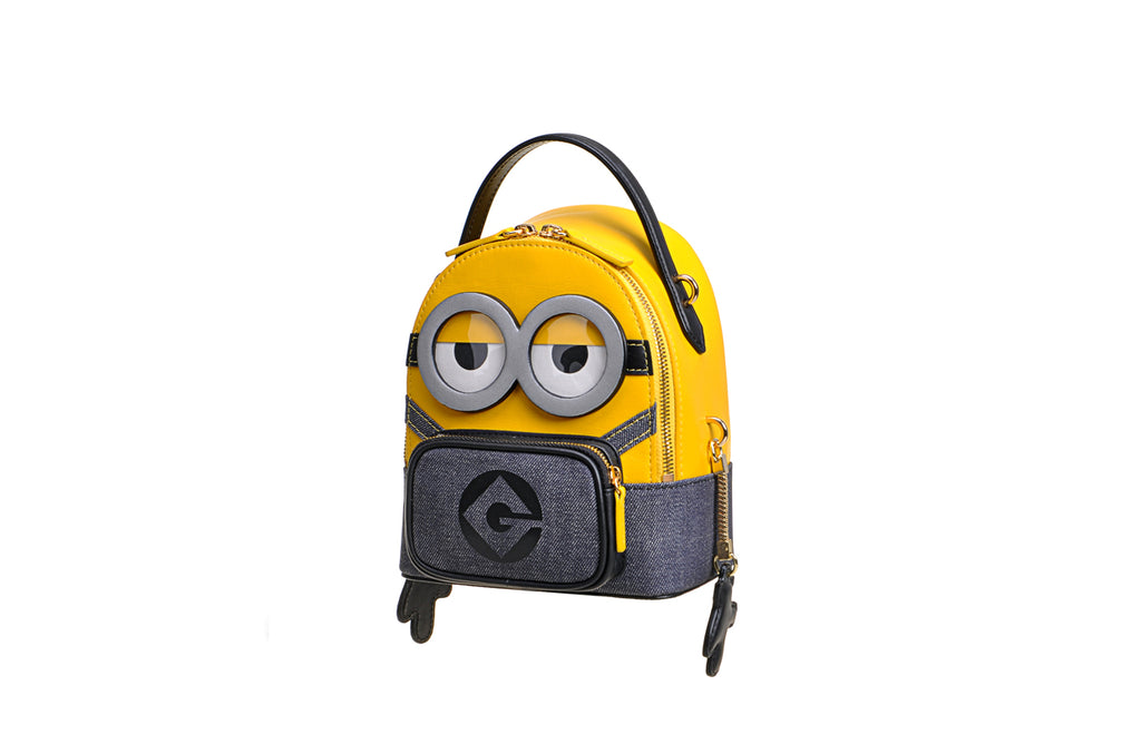 Minions Jacquard with Leather Backpack