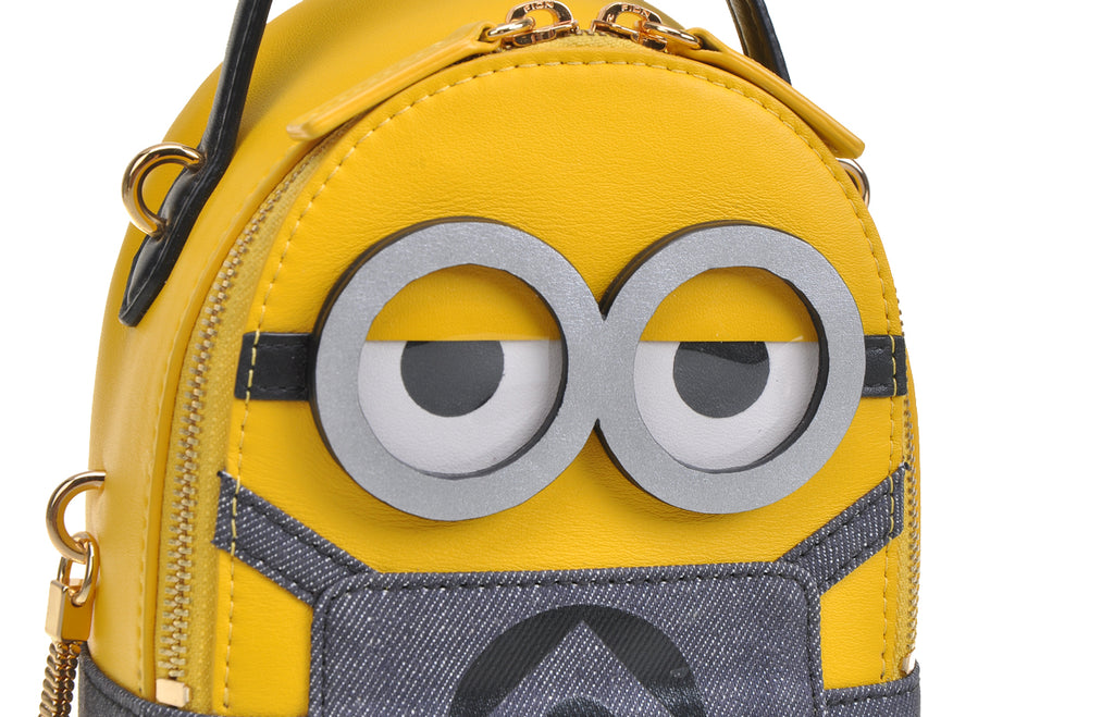Minions Jacquard with Leather Mini Backpack