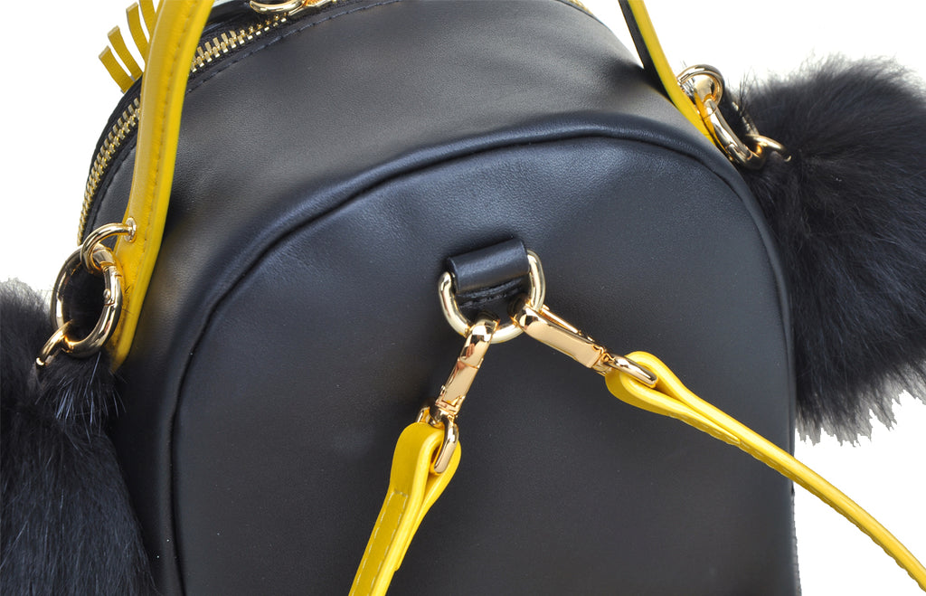 Little Mons Leather with PVC Backpack Medium