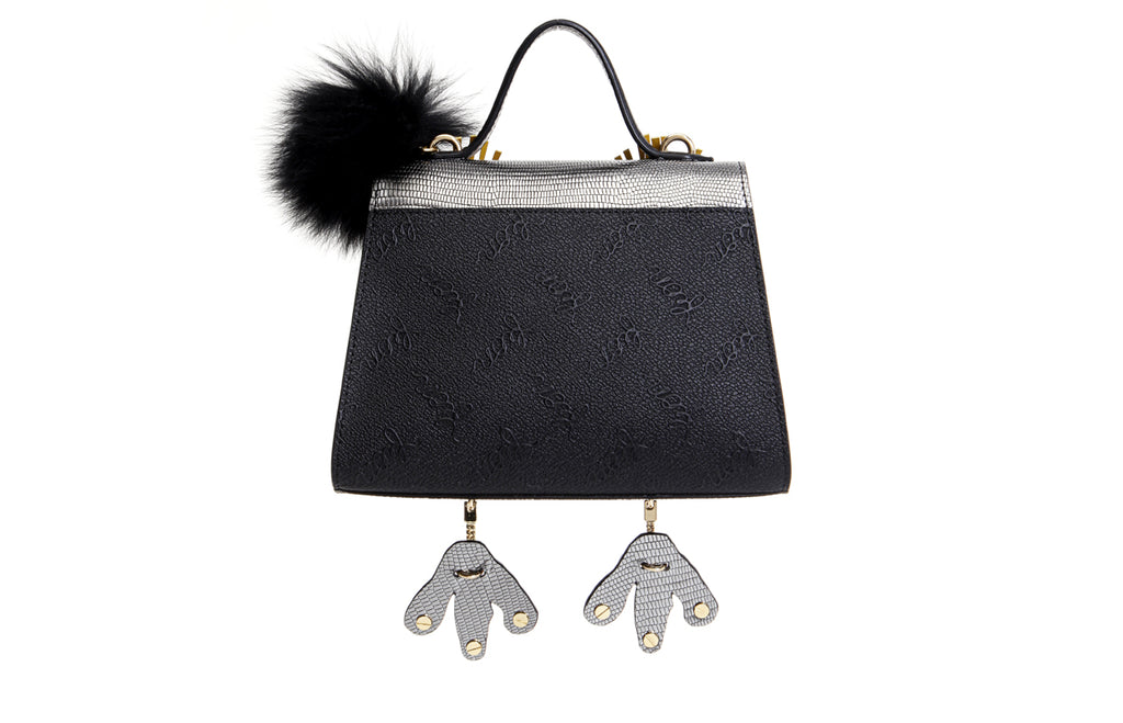 Little Mons Leather with PVC Crossbody & Shoulder Handbag