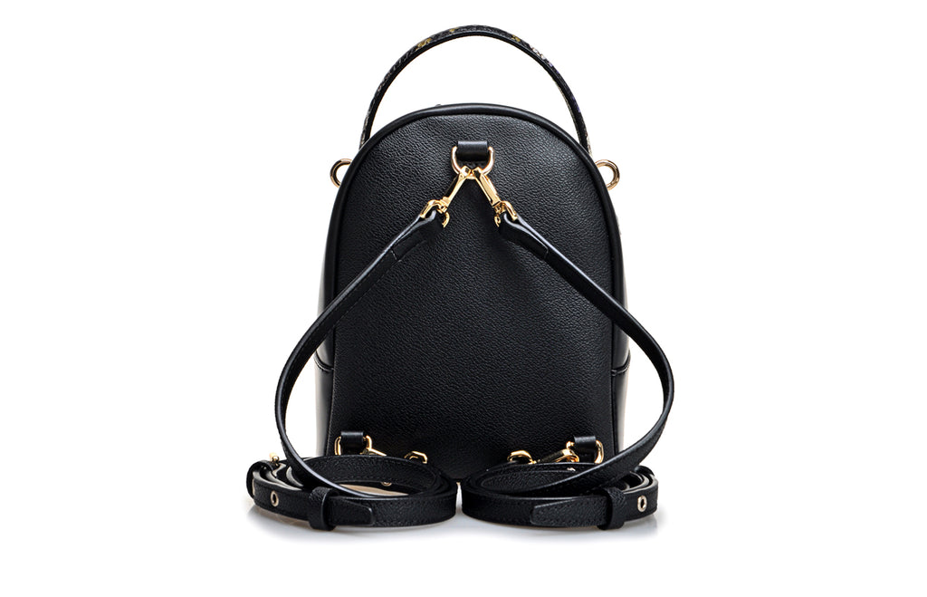 Little Mons PVC with Leather Backpack Medium