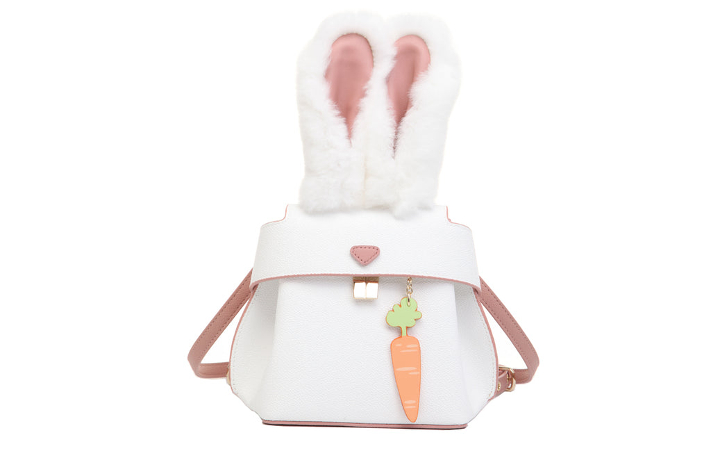Rabbit PVC with Leather Crossbody & Shoulder Handbag