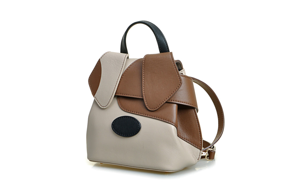 Doggy Leather Top Handle Handbag
