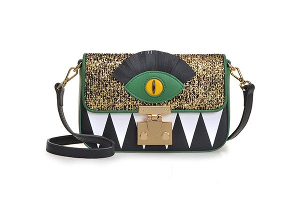Little Mons Jacquard with Leather Crossbody & Shoulder Handbag