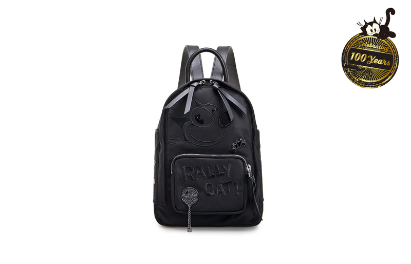 """Felix The Cat"" 100th Anniversary Jacquard with Leather Backpack"