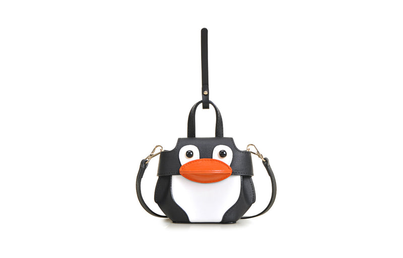 Penguin PVC with Leather Mini Shoulder Bag