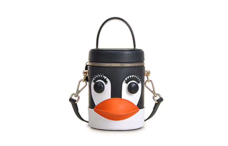 Penguin PVC with Leather Shoulder Bag