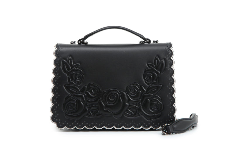Night Rose Leather Crossbody & Shoulder Hangbag