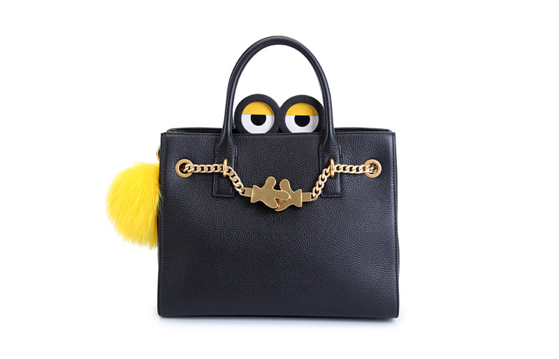 Minions Leather Top Handle Handbag