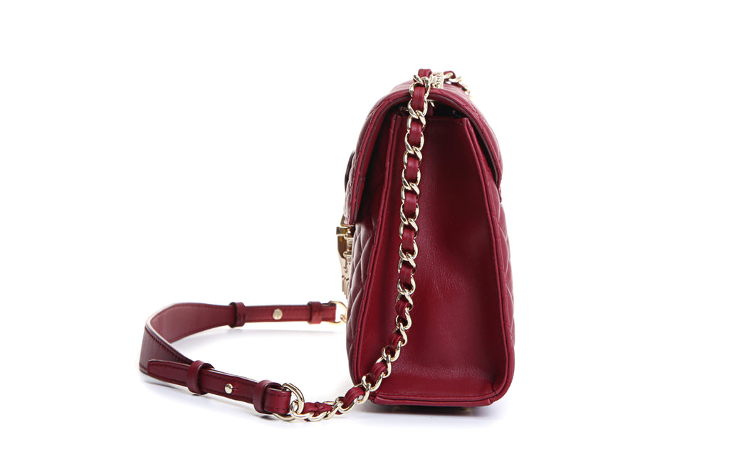 Rugosa Quilting Leather Crossbody & Shoulder Handbag