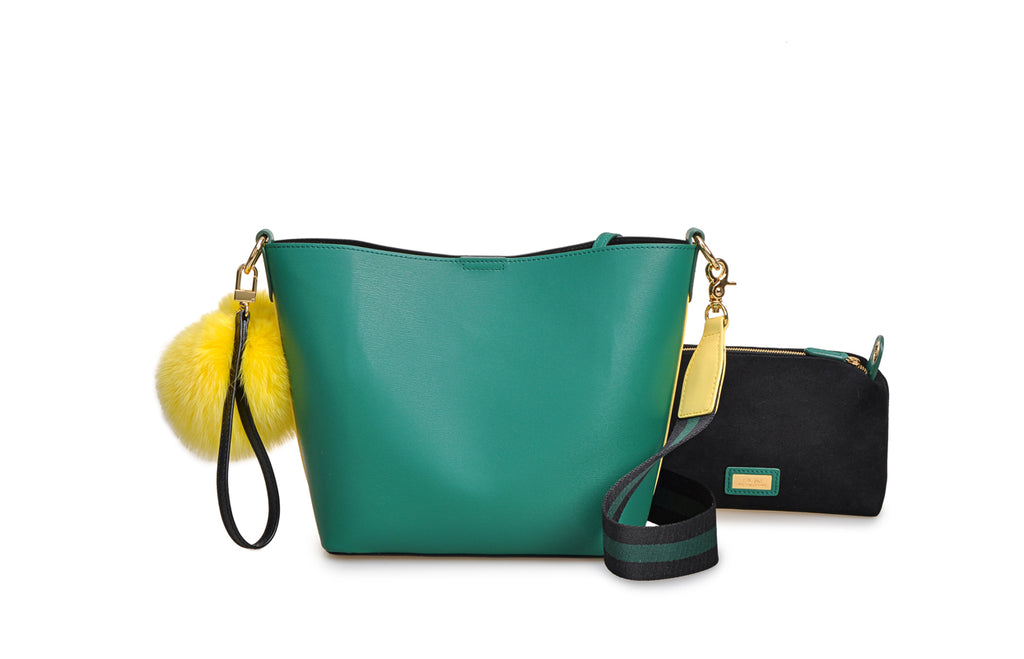Mix & Match Leather Crossbody & Shoulder Handbag