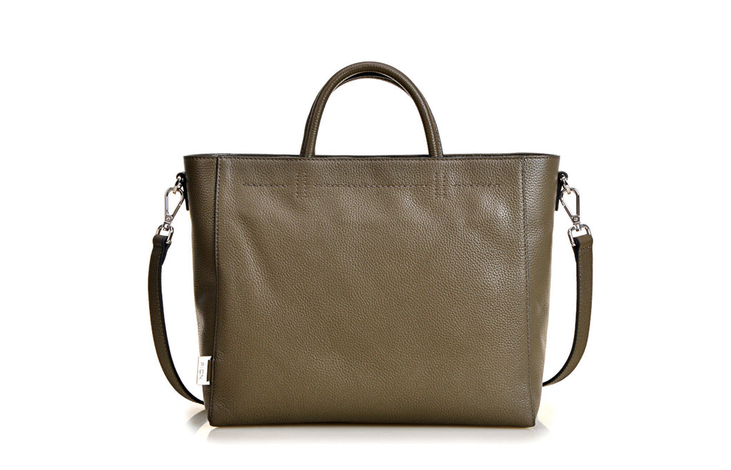 Modern Cow Leather Top Handle Bag