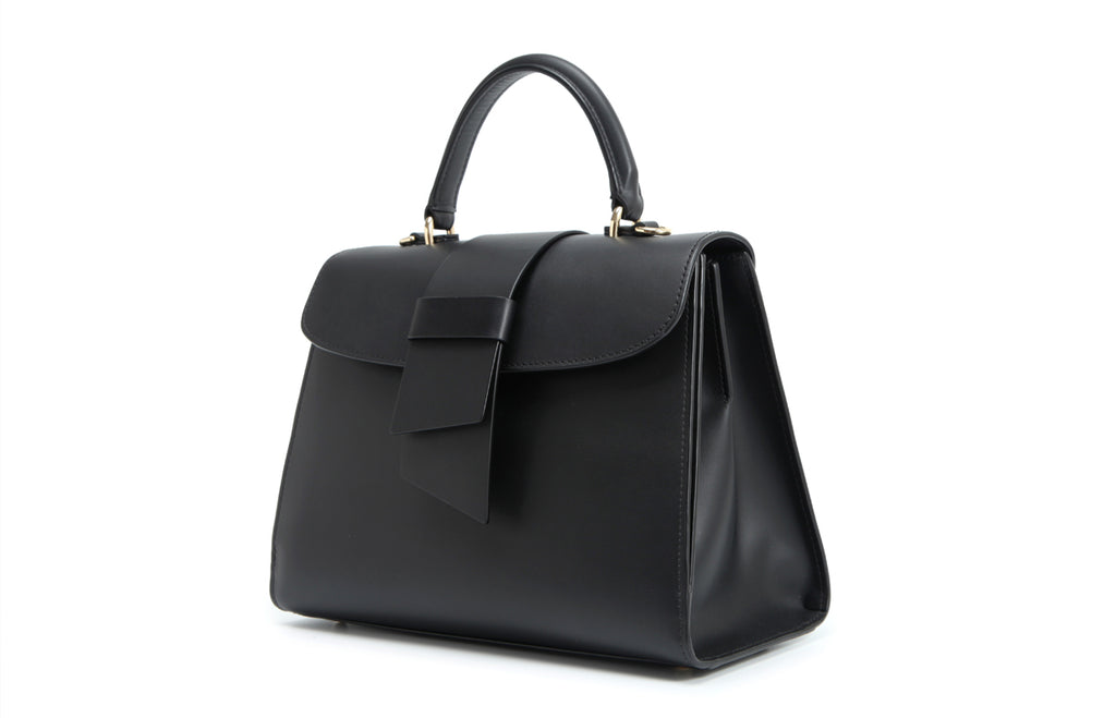 Daisy Leather Top Handle Handbag