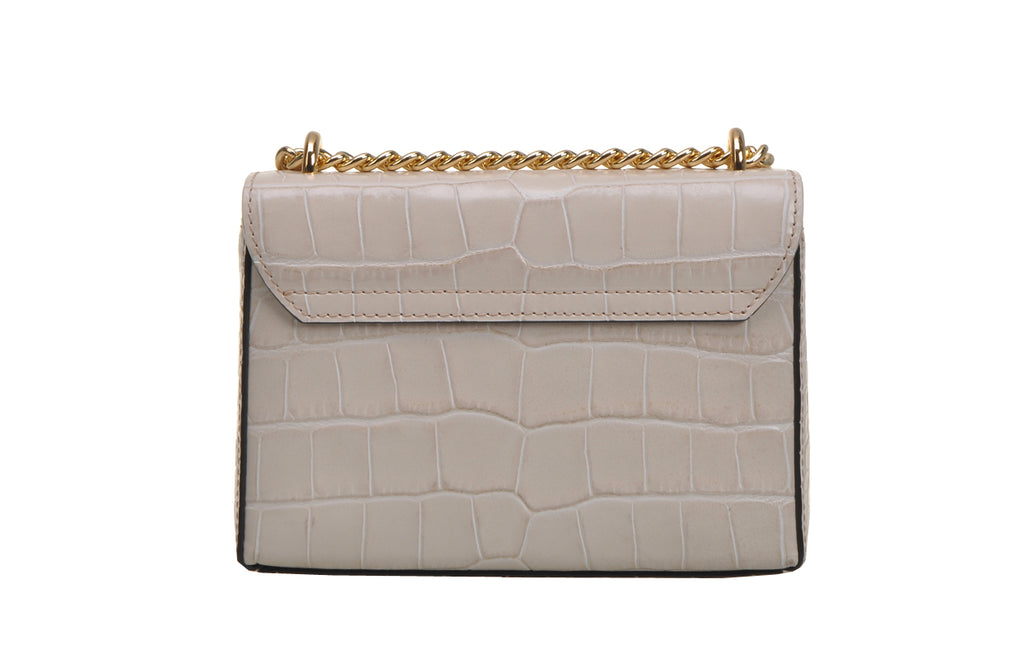 Croc Leather Crossbody & Shoulder Handbag