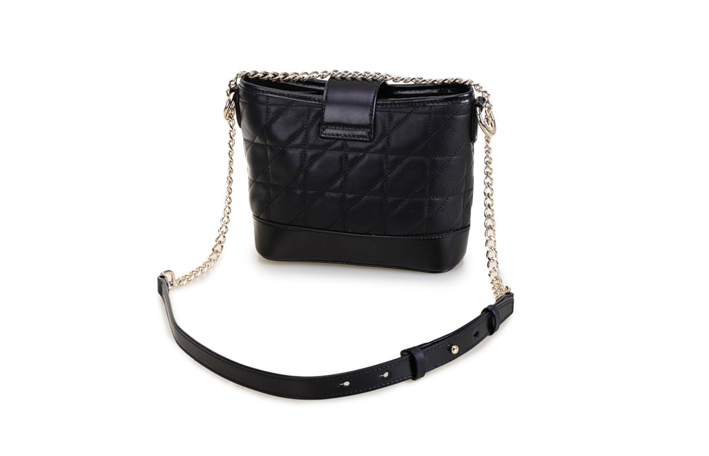 Minions Lambskin Leather with Cowhide Leather Shoulder Bag