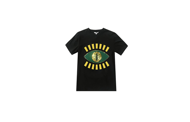 Little Mons Single Eye T-Shirt for Adults - Black