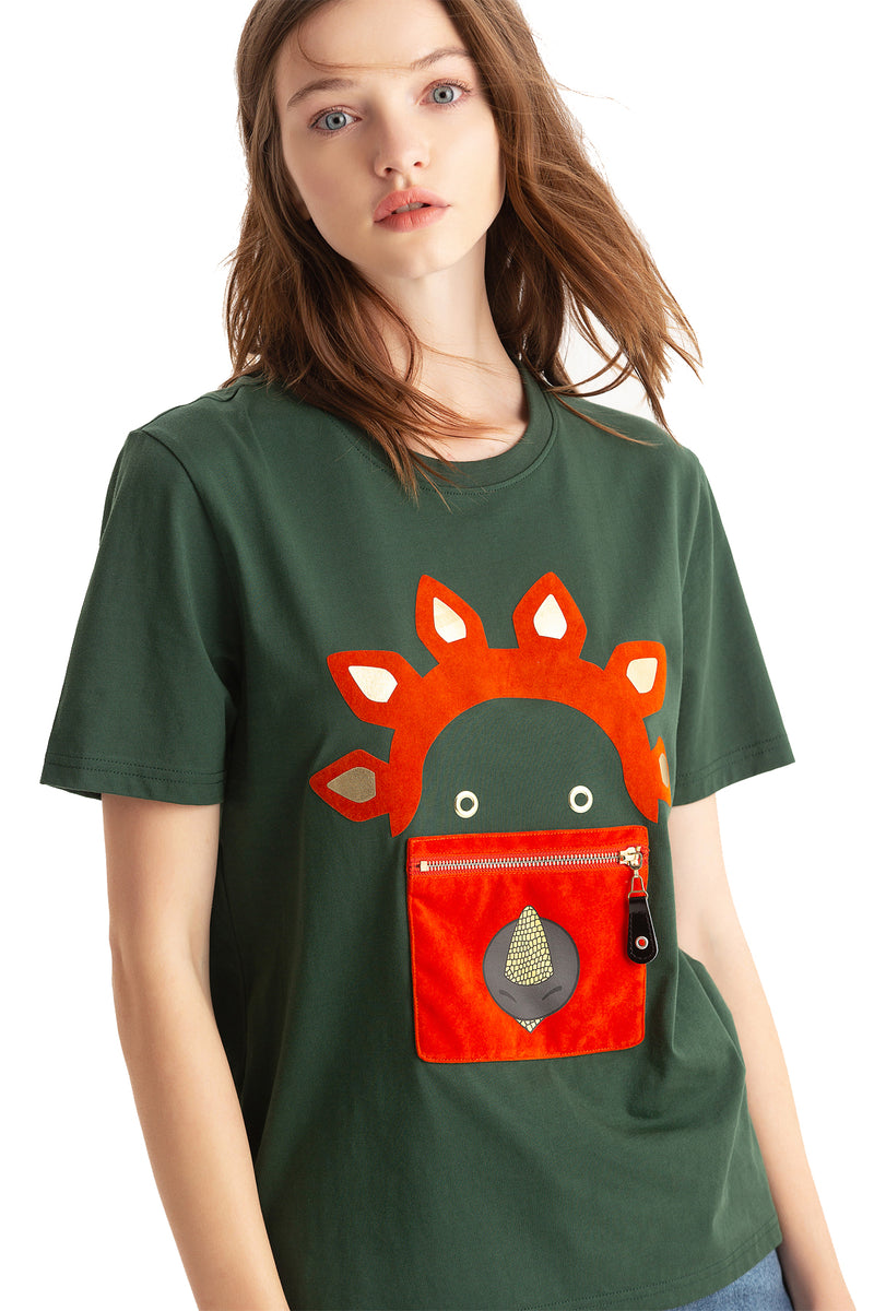 Little Mons T-Shirt for Adults - Green