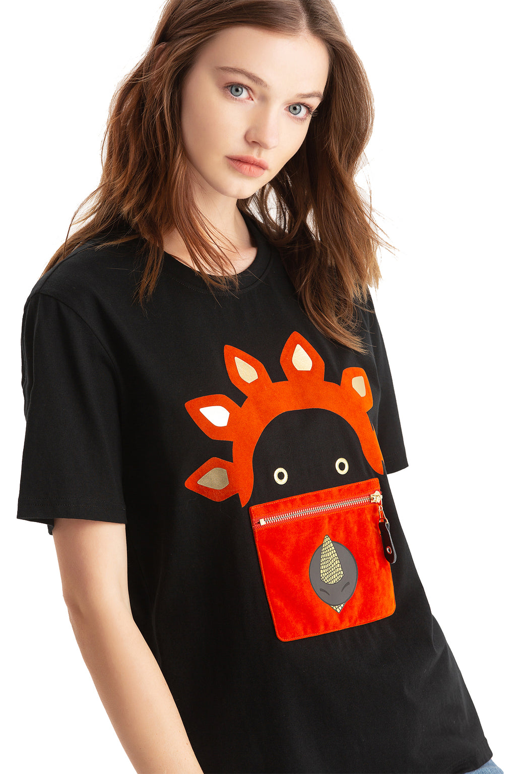 Little Mons T-Shirt for Adults - Black