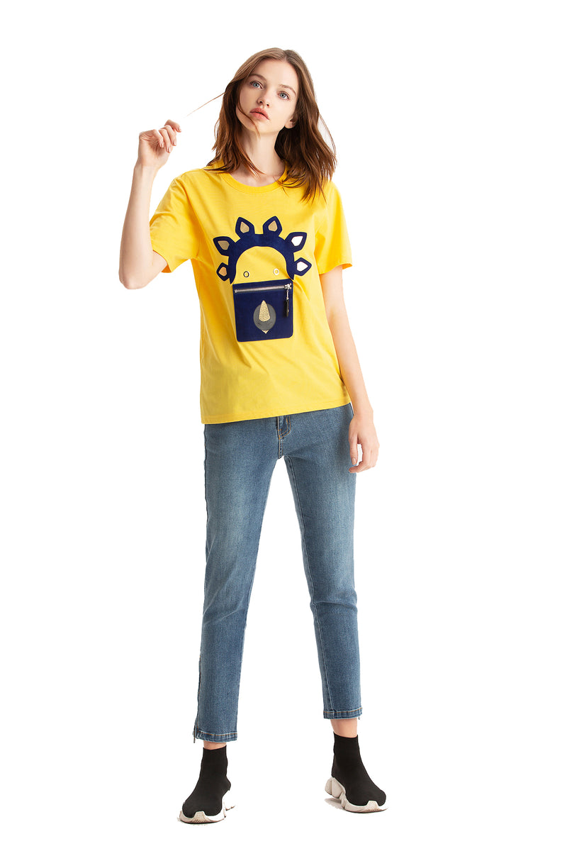 Little Mons T-Shirt for Adults - Yellow