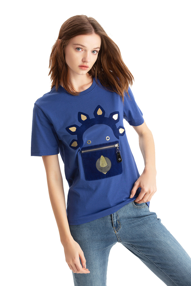 Little Mons T-Shirt for Adults - Blue