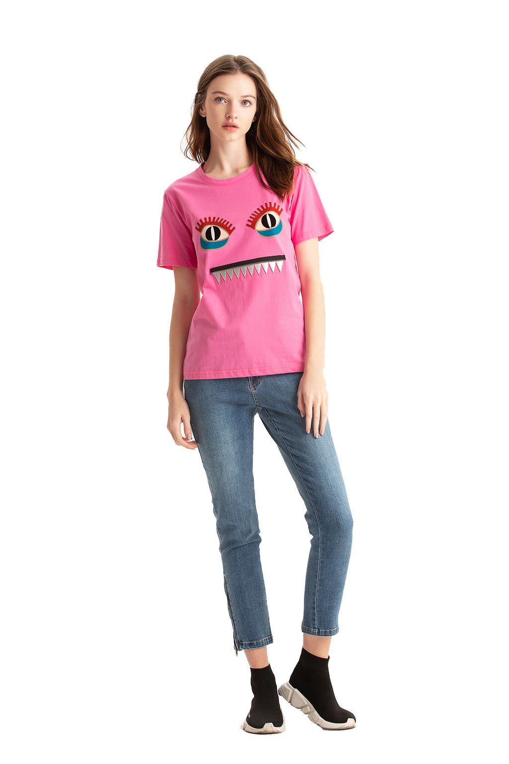 Little Mons T-Shirt for Adults - Pink