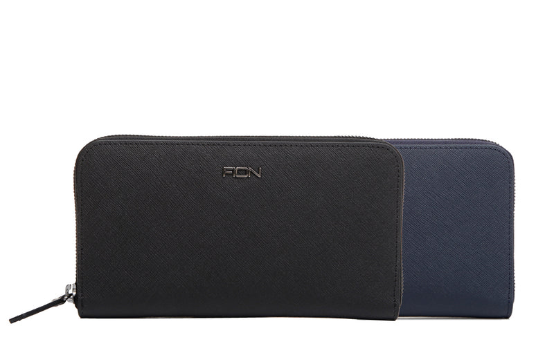 Cross Leather Long Zip Wallet