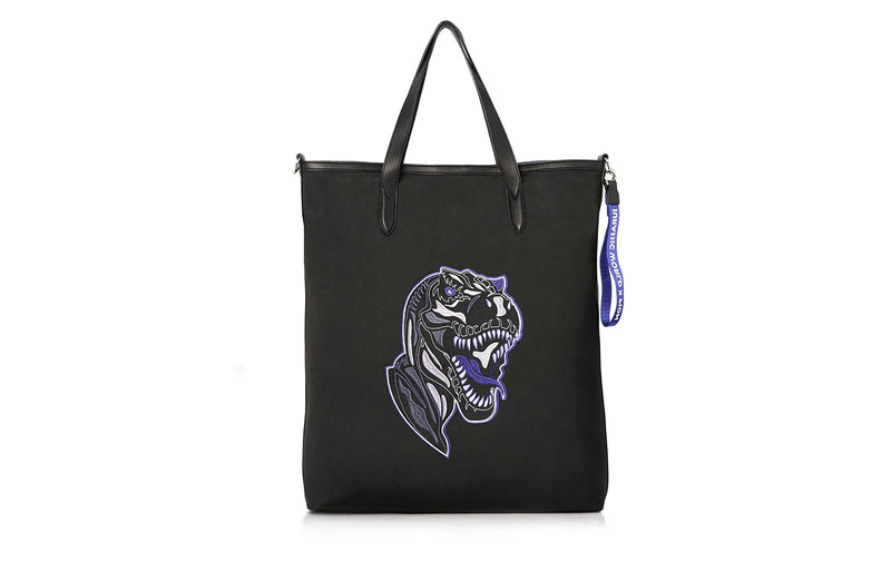 FION X Jurassic World Jacquard with Leather Tote Handbag