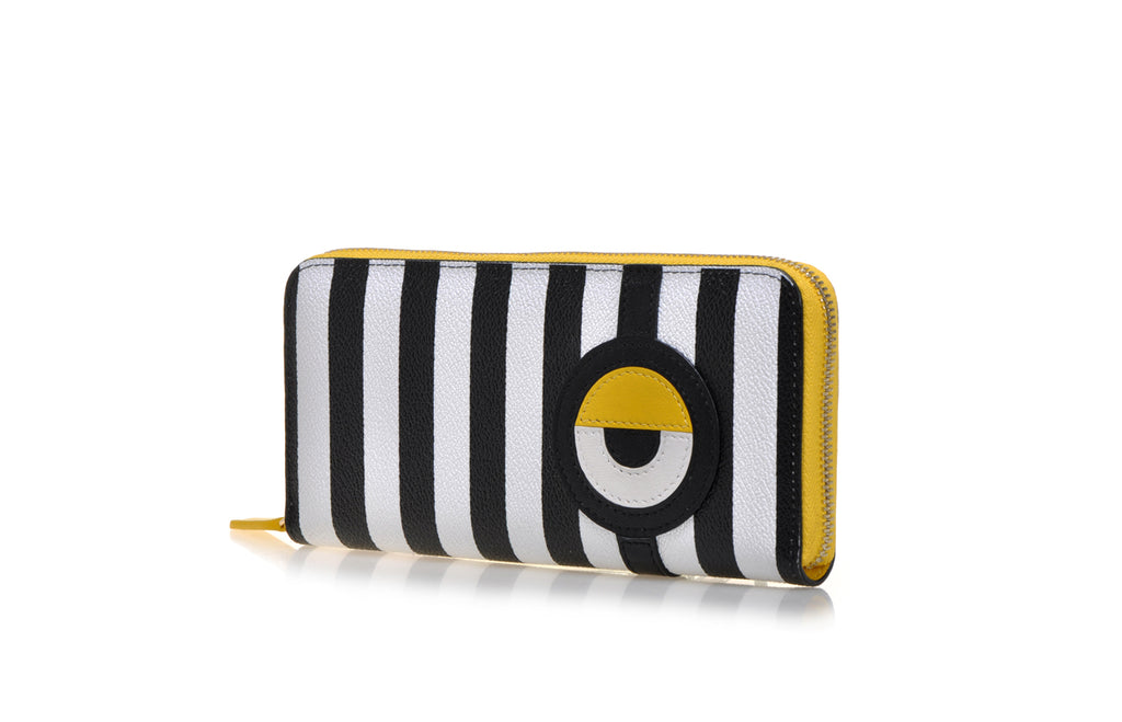 Minions PVC with Leather Long Zip Wallet