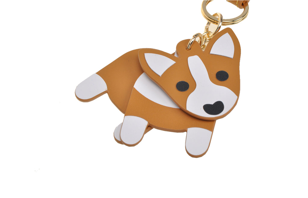 Corgi Leather Handbag Charm