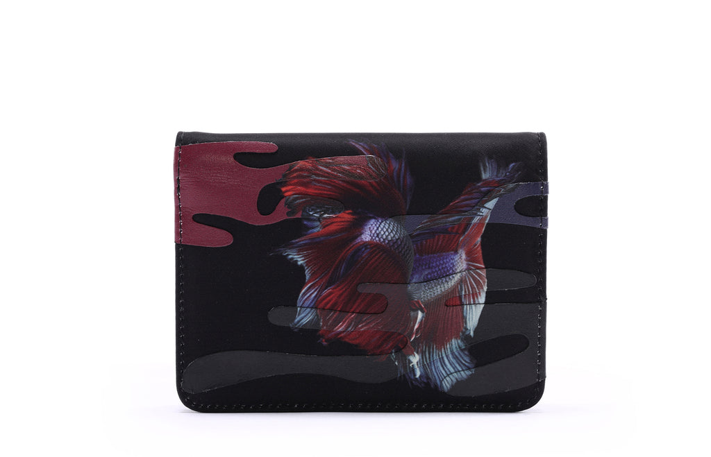 Rumble Fish JACQUARD with LEATHER Short Wallet