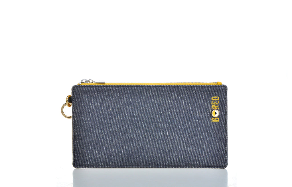 Minions Jacquard with Leather Clutch with Charms and Coin Pocket