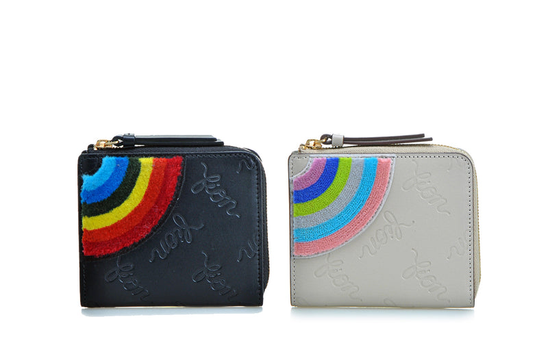 Rainbow Life Leather Short Zip Wallet