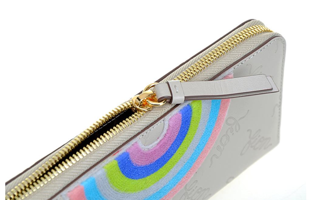 Rainbow Life Leather Long Zip Wallet