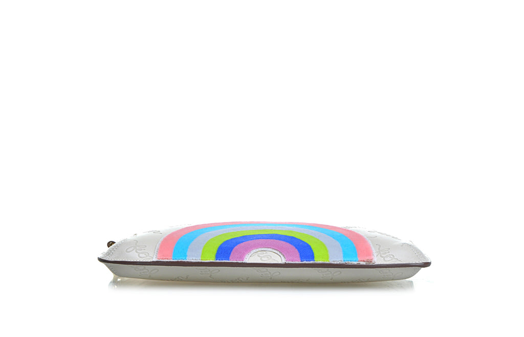 Rainbow Life Leather Clutch