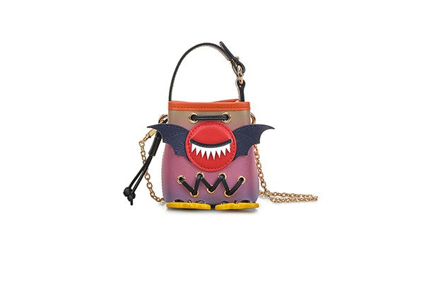 Little Mons Leather with Jacquard Mini Handbag