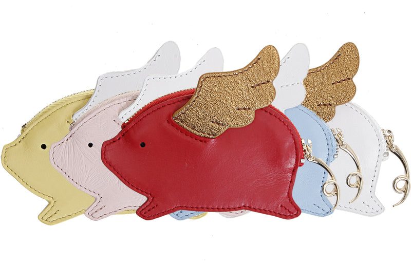 Piggy Leather Coin Pocket