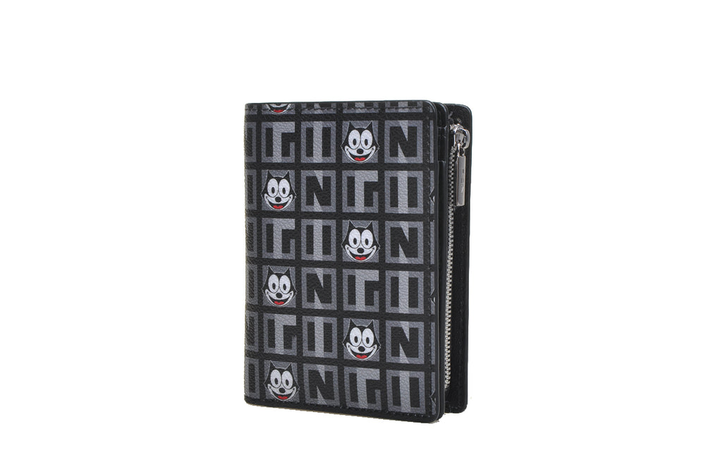"""Felix The Cat"" 100th Anniversary PVC with Leather Short Wallet"
