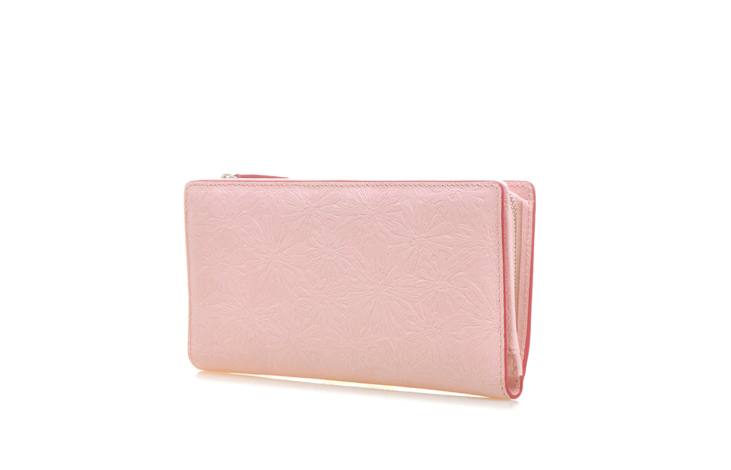 Daisy Leather Long Wallet