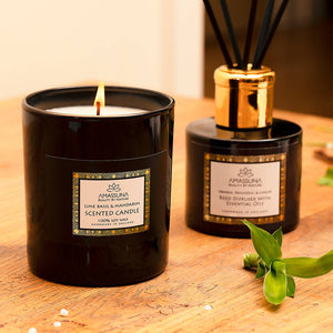 Luxury Soy Wax Scented Candle - Lemongrass & Oakmoss 220g