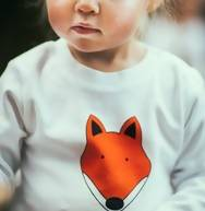 Fox unisex childrens long sleeve t shirt