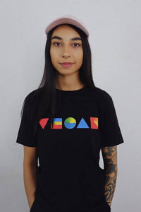 PRIMARY VEGAN BLACK TEE