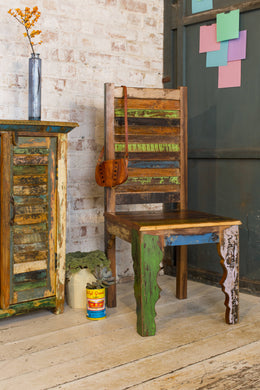 SHUTTER - vintage look reclaimed wood chair
