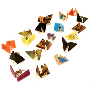 Upcycled Vinyl Record Studs