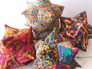 Star Cushion - Kantha