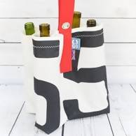 Upcycled Sailcloth 4-way Bottle Bag