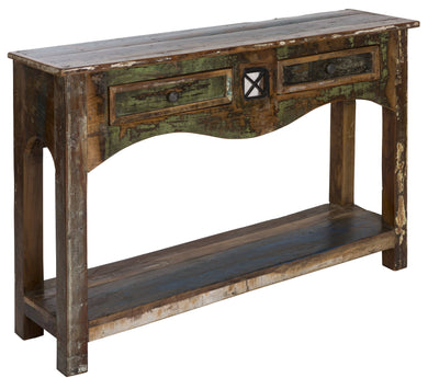 AMURU - Hallway Console Table Handmade From Solid Reclaimed Wood