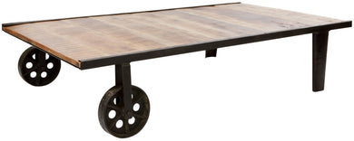 BARO - Large Industrial Wheel barrow inspired Coffee Table
