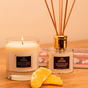 "Clear Luxury Scent Diffuser With Essential Oils - ""Balance"" – Orange, Patchouli & Ginger 100ml"