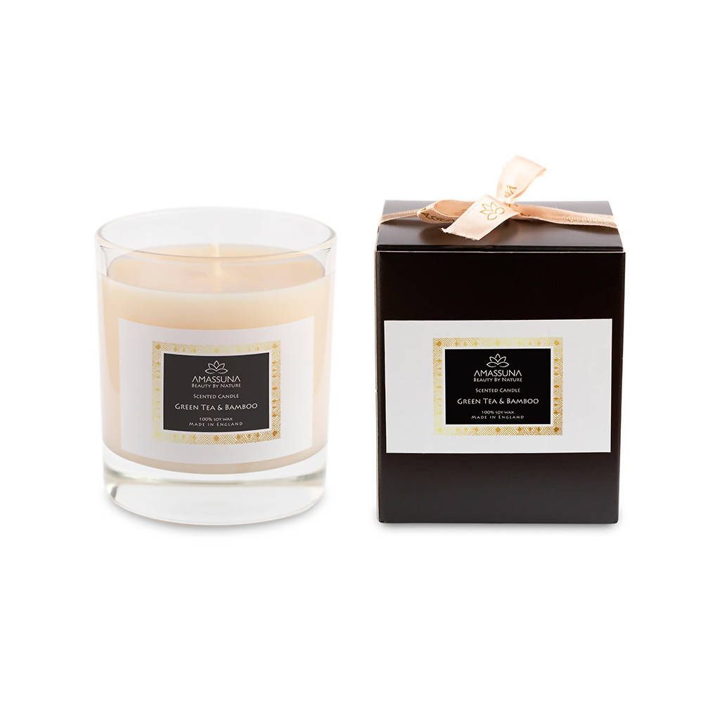 Luxury Soy Wax Scented Candle - Green Tea & Bamboo 220g