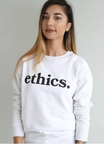 ethics. CREAM SWEATSHIRT